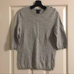 Light weight gray sweater